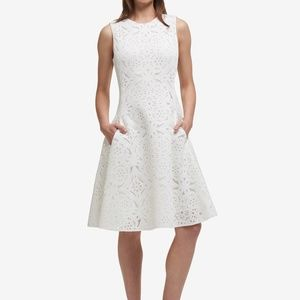 DKNY Laser-Cut Fit-and-Flare Dress 4 NWT